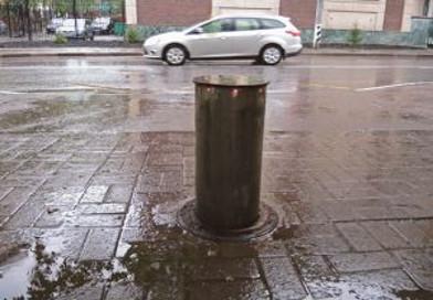 анти парковочные столбики. картинка