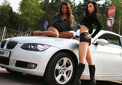 красиые девушки красивые авто картинка